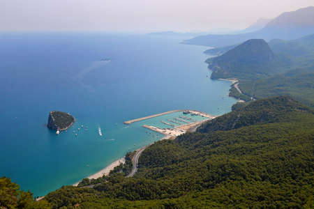 Amazing city Antalya view from Tunekepe in Turkey. 版權商用圖片