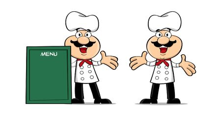 possibilities: Vector of chef cartoon with so many editing possibilities