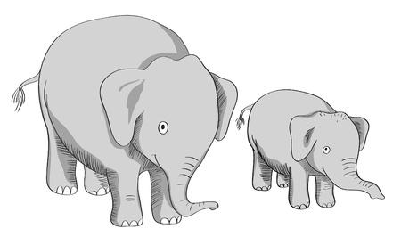 Vector of cartoon elephant Vector