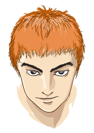 Illustration of human head in comic style