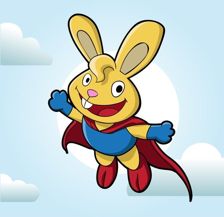 Image of a cute bunny. Suitable for product mascot or just web usage Illustration