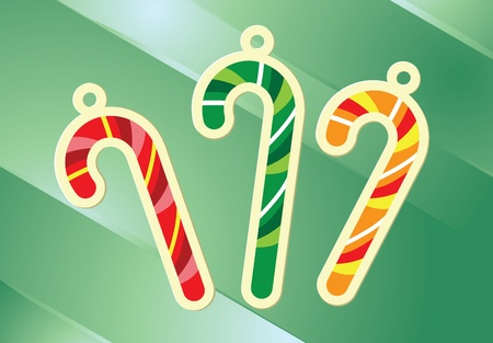 Image of christmas candy cane hanging decoration