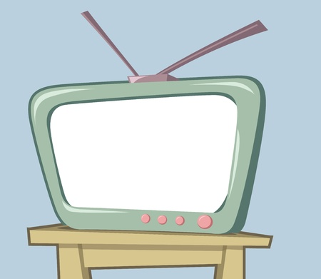 Image of retro and vintage style television Vector