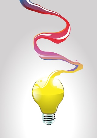 Image of flowing creativity that creating an idea Illustration