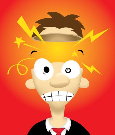 Image of person who have a great idea inside his head