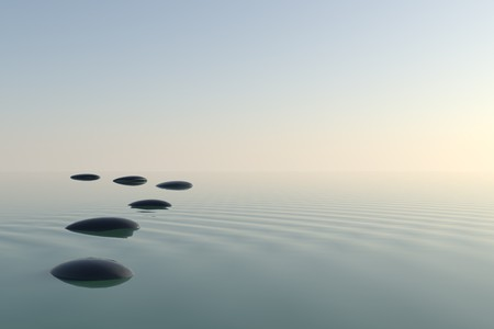 meditation stones: Zen stones in the water
