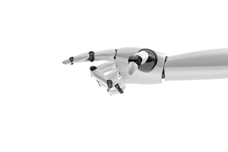 mano robotica: Mano rob�tica muestra algo sobre fondo blanco