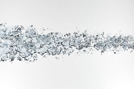 jet stream: Limpiar salpicando agua azul sobre fondo blanco