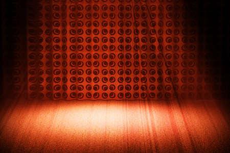 vintage retrò scena illuminated by a red spotlight