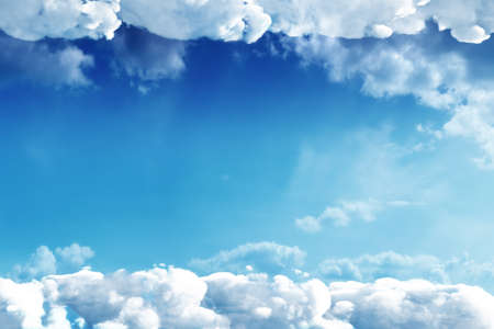 Cloudy environment on blue and clear sky