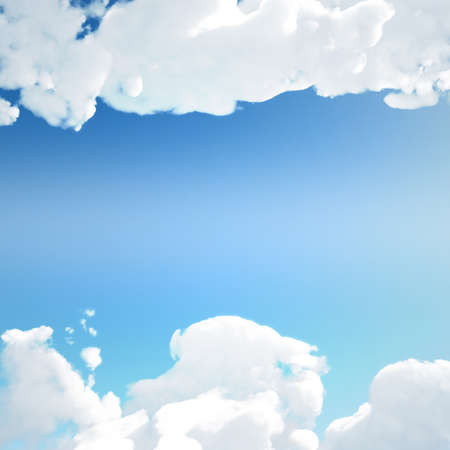 Clouds canvas on clear and sunny sky background
