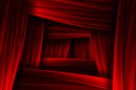 Red velvet frame texture with depth illusion Stock Photo - 24086702