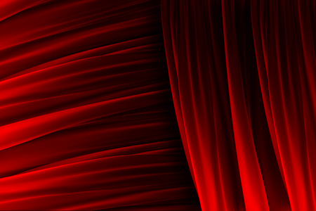 Red velvet curtain texture with lights and shadows effects Stock Photo - 24086700