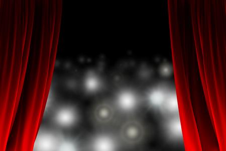 Hinter dem Vorhang gerade eine Schar von Fotografen Standard-Bild - 27541428