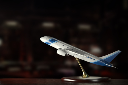tecnology: Realisti airliner model on a desk