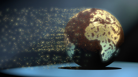 Water pollution and global warming are wearing away a golden world