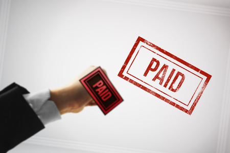 recompense: Confirm a payment with a Red paid stamp
