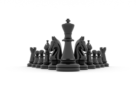 Leadership: Kings team in its entirety on white background