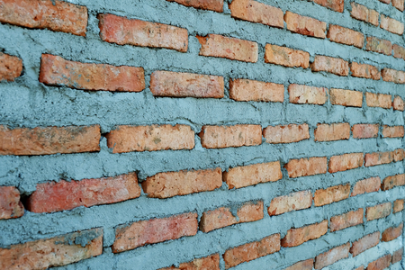 Newly built red brick wall texture background, Selective focus 版權商用圖片