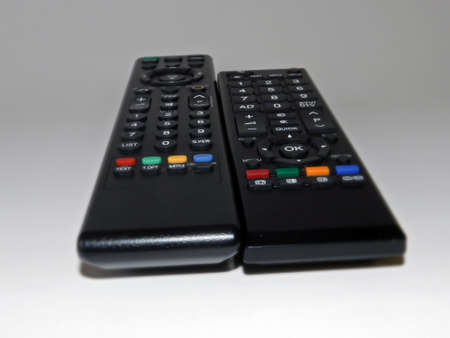remote controls: Various remote controls Stock Photo