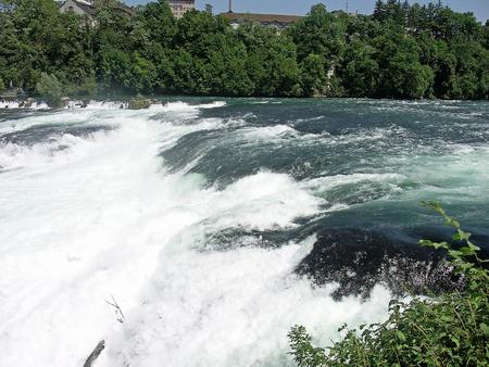 Beautiful falls on Rhine. Switzerland. photo