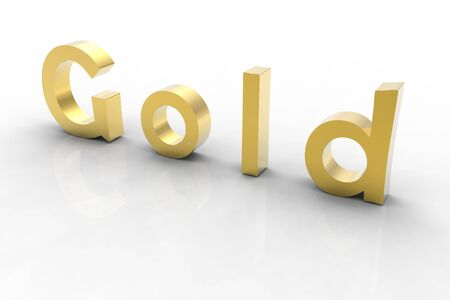 digitally generated: 3d rendered golden text on a white background. 6000x4000 pixels. Stock Photo