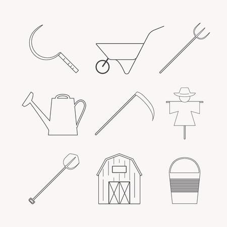 Icônes agricoles et de l'agriculture différente et éco éléments de conception produit de récolte. Banque d'images - 59276204