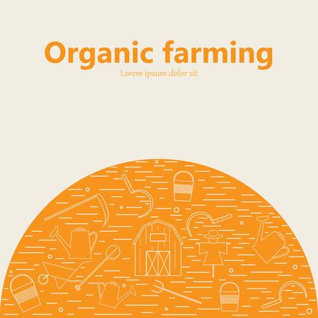 Icônes agricoles et de l'agriculture différente et éco éléments de conception produit de récolte. Banque d'images - 59276205