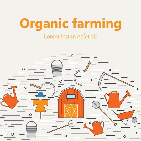 Icônes agricoles et de l'agriculture différente et éco éléments de conception produit de récolte. Banque d'images - 59276209