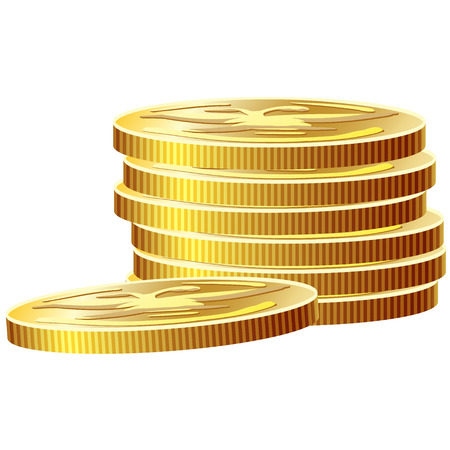 Game icon of gold coins. Gui asset elements collection. Vector illustration isolated on white background. Stock fotó - 59278285