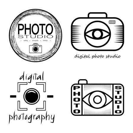 photo studio: Vector collection of photo studio Illustration