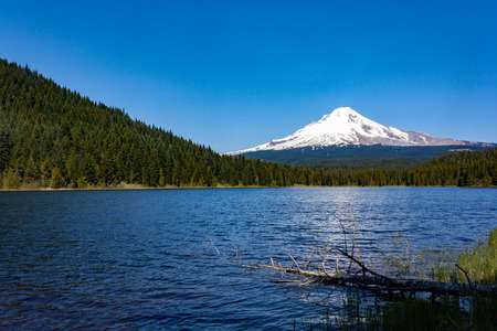 Mt. Hood from Trillium Lake near Portland, Oregon.
