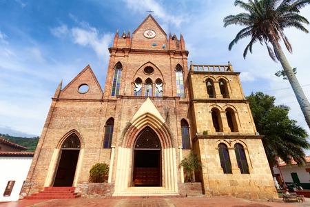 colonial church: The exterior of the Cabrera Church in Cabrera, Colombia.