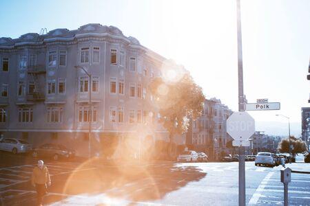 SAN FRANCISCO, CALIFORNIA - MARCH 7: An unidentified man walks down Polk Street on March 7, 2016 in San Francisco, California.
