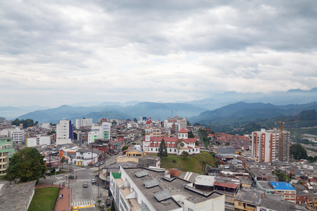 nevado: View of Manizales, colombia. Stock Photo