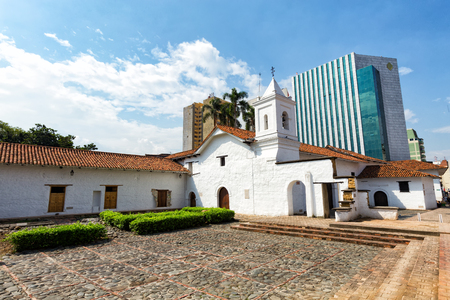 View of the La Merced Church in Cali, Colombia.