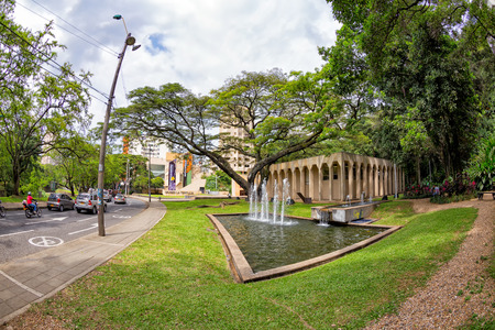 Fisheye view of the Museum of Modern Art in Cali, Colombia. Editorial