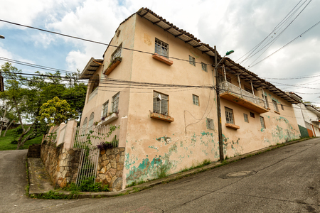 An old house in Cali, Colombia. Stock Photo