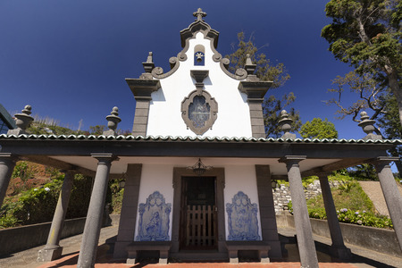 A wide angle view of the Sancta Maria Chapel near the Jardim Tropical Monte Palace in Funchal.