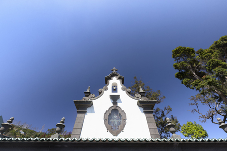 The Top of the Sancta Maria Chapel near the Jardim Tropical Monte Palace in Funchal.