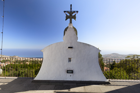 View of Funchal from the rooftop of the Church of our Lady of Monte in Funchal, Portugal.