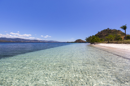 Clear water in the Seventeen Island National Park, Flores, Indonesia. Stock Photo