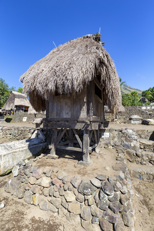 A Bhaga shrine at the Luba Village in Flores, Indonesia. Archivio Fotografico