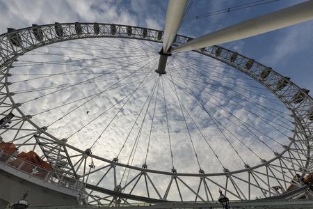Unique view of the London Eye in England. Archivio Fotografico - 123571751