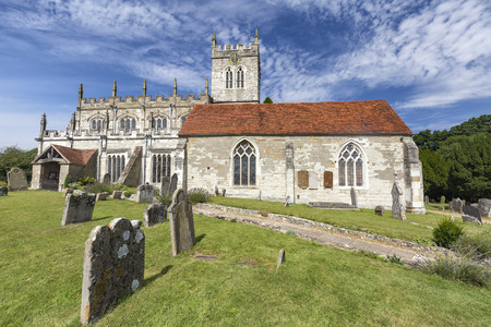 Beautiful view of the Saxon Sanctuary Church in Wootton Wawen, England. Archivio Fotografico - 123633439