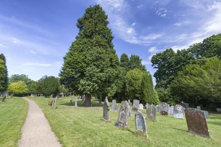 Cemetery at the Saxon Sanctuary Church in Wootton Wawen, England. Archivio Fotografico - 123633853