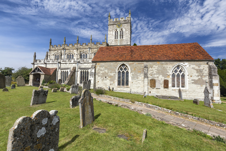 Grave Stones around the Saxon Sanctuary Church in Wootton Wawen, England. Archivio Fotografico - 123633855
