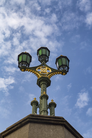 Portrait view of a classic London street light. Archivio Fotografico - 123633942
