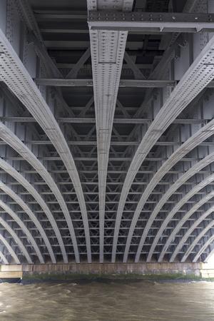 Pattern of a bridge in downtown London.