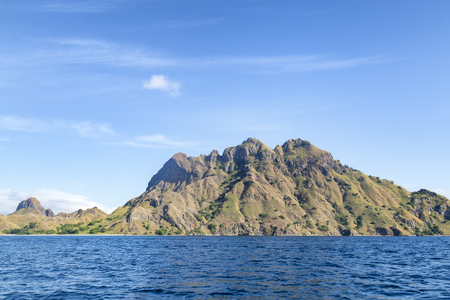 An interesting mountain in the central part of Pulau Padar island in the Komodo National Park.
